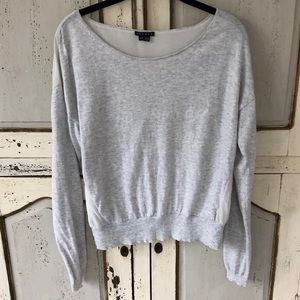 Theory Grey & White Top